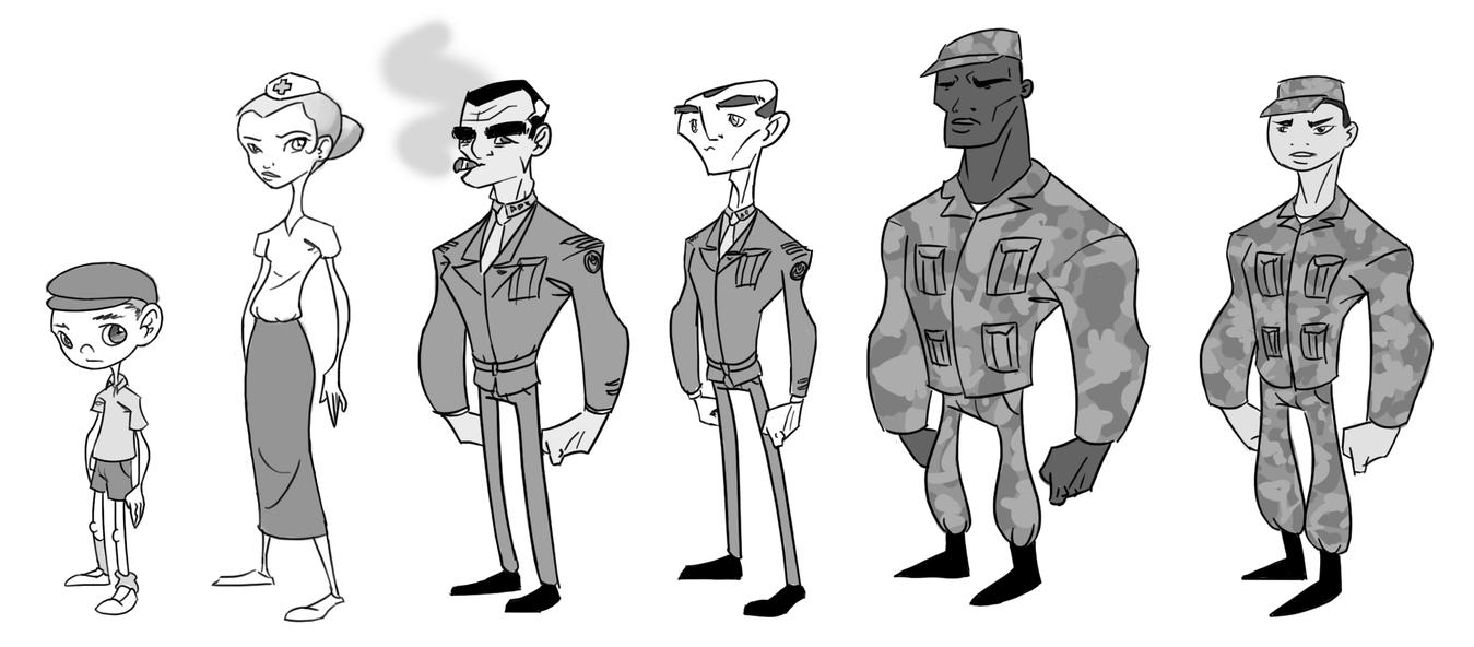 Character Design For Comics : Character designs by comic on deviantart