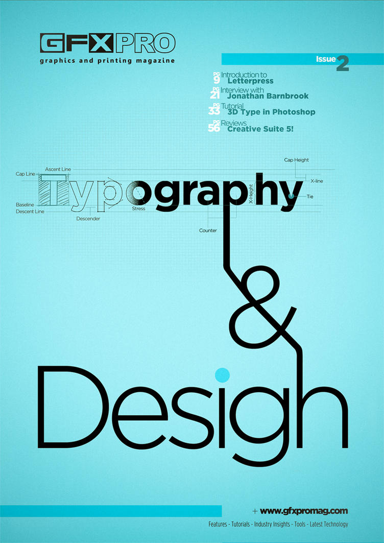 Magazine cover - Typography by latphotos