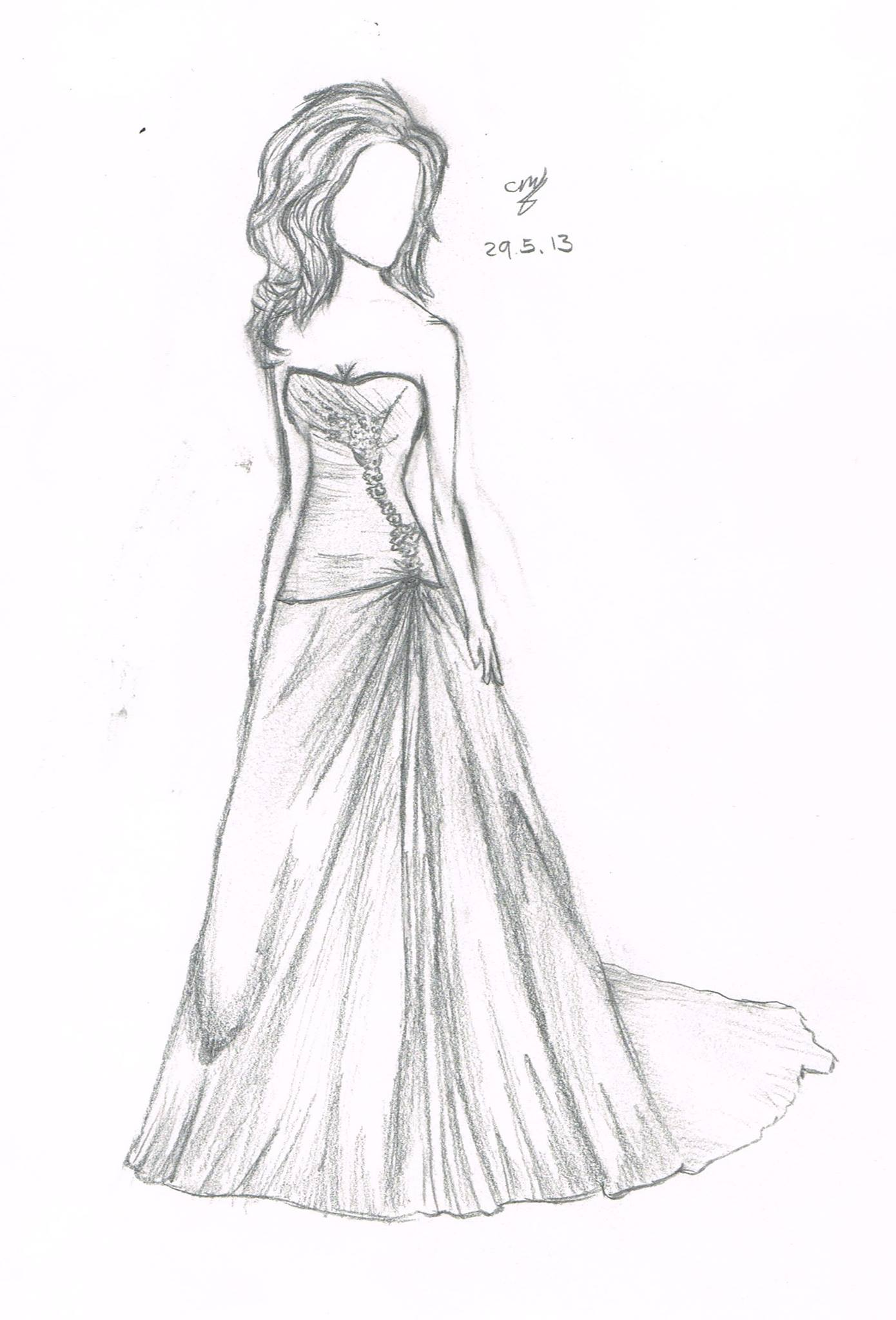 Dress drawings tumblr simple wedding dress by