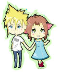 Cloud+Aerith Chibis.