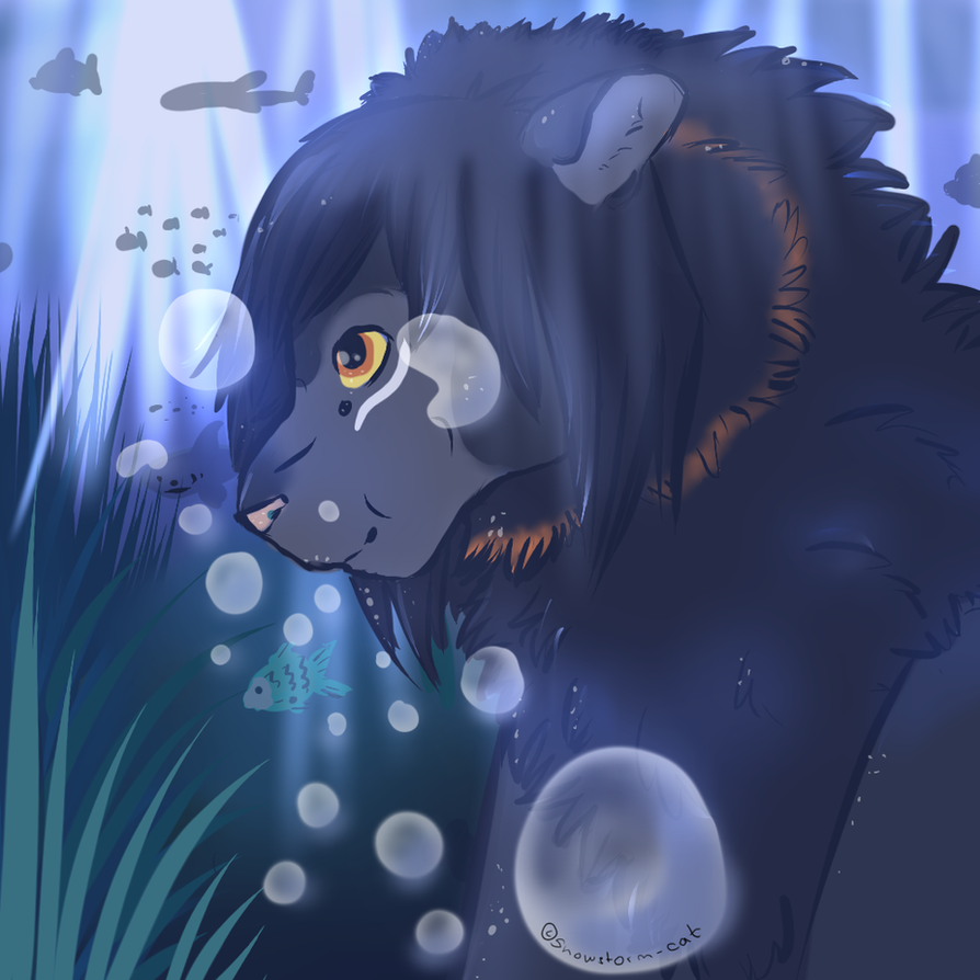 .:blue water:. by Snowstorm-cat