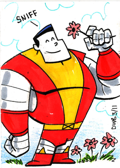 Colossus Sketchcard by thecheckeredman