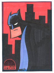 SCCC Batman sketch card by thecheckeredman
