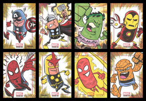 BRONZE AGE sketchcards 001-008 by thecheckeredman