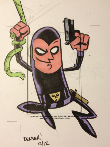 The PHANTOM sketchcard by thecheckeredman