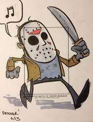 JASON VOORHEES sketchcard