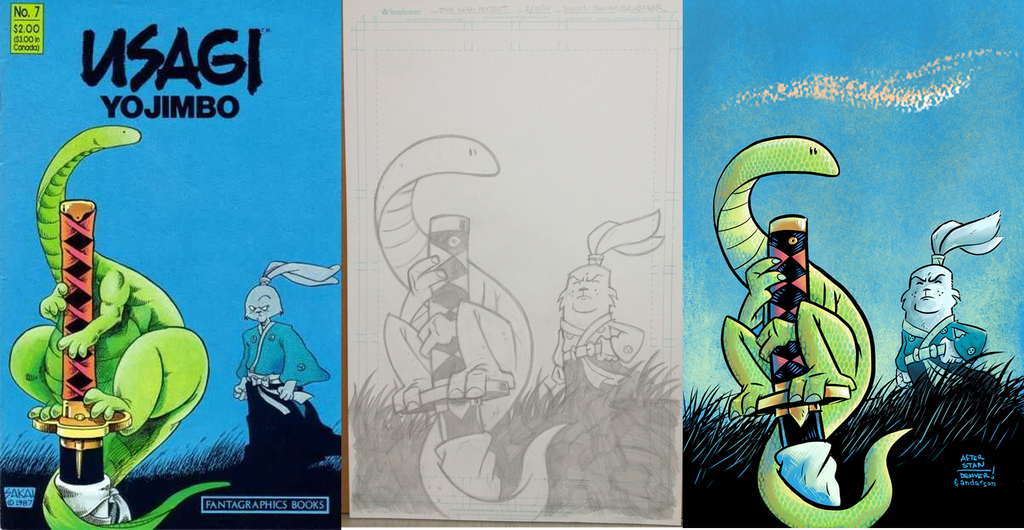 Usagi Yojimbo #7 side-by-side comparison by thecheckeredman