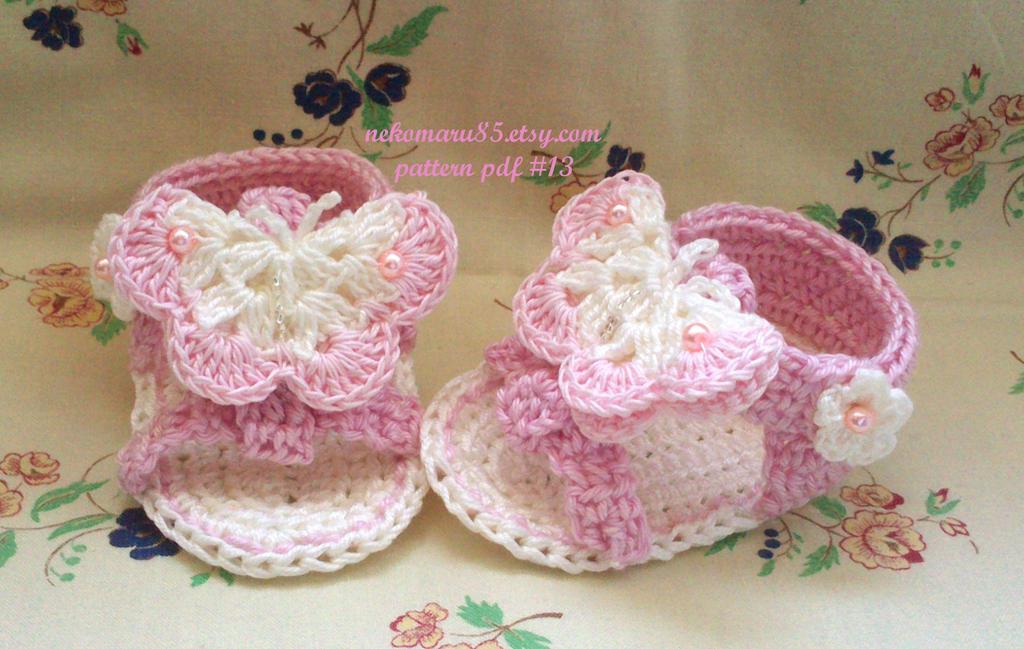 Crochet Sandals With Butterfly By Nekomaru85 On Deviantart