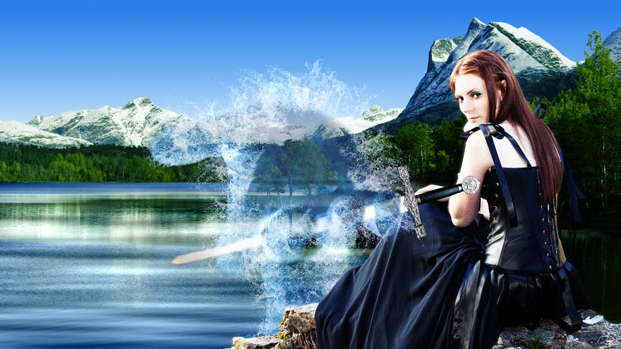 Lady of the lake by elderkitsune on deviantart for Miroir dans la boue