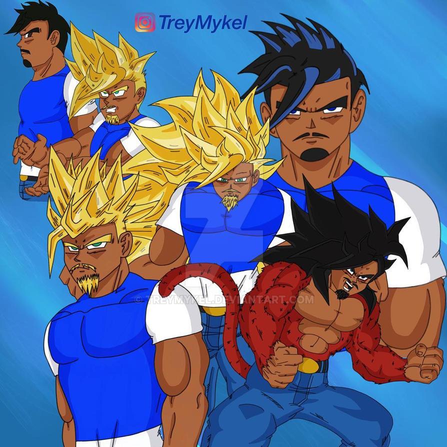 Trey's Saiyan's Forms by TreyMykel