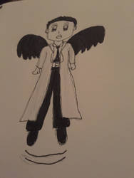 Chibi Castiel Floating and Flying