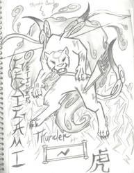 Gekigami the tiger by HiddenWolfSoulKimi