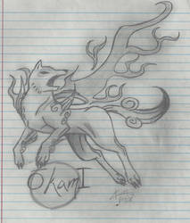 Okami ps2 cover by HiddenWolfSoulKimi