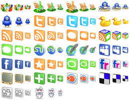 Free 3d Social Icons by aha-soft-icons
