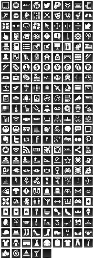 Free Black Button Icons