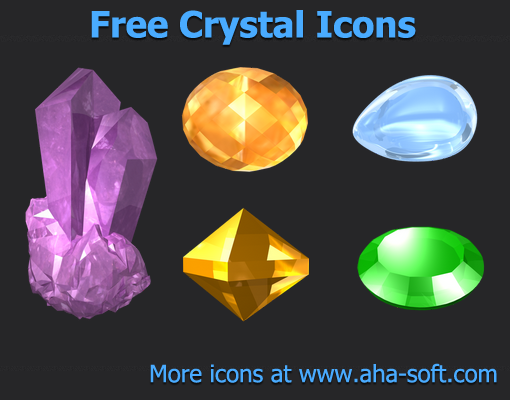 Free Crystal Icons by aha-soft-icons