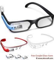 Free Google Glass Icon Set by aha-soft-icons