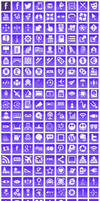 Free Violet Button Icons