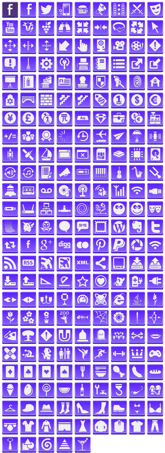 Free Violet Button Icons by aha-soft-icons
