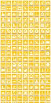 Free Yellow Button Icons