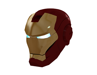 Gold Iron Man Mask Icon by aha-soft-icons