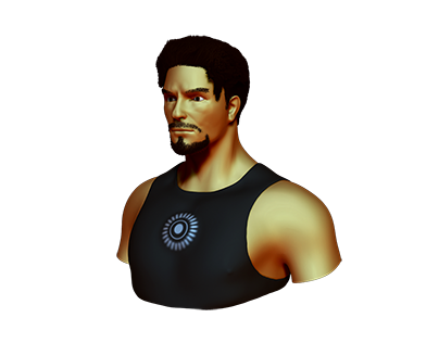 Tony Stark Icon by aha-soft-icons