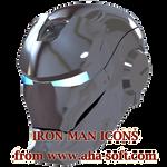 Silver Iron Man Mask Icon