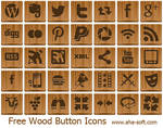 Free Wood Button Icons