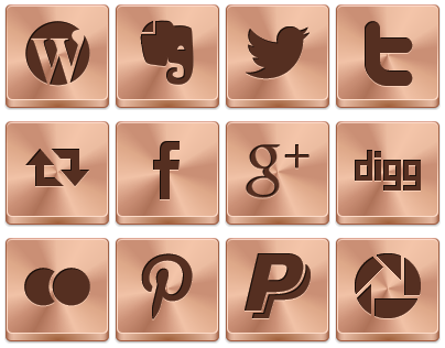 Free Bronze Button Icons by aha-soft-icons