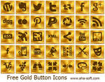 Free Gold Button Icons