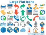Large Flat Icons