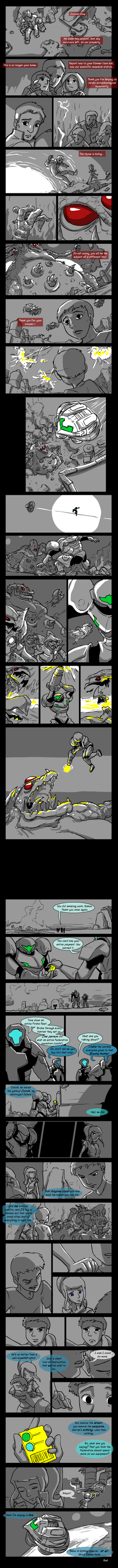 The Raid on Outpost Nine - Metroid Strip by tran4of3