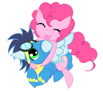 Pinkie Pie and Soarin