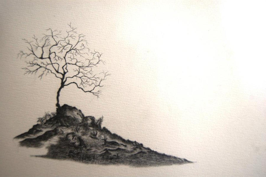 Unfinished sketch  Landscape Study by surehit123Unfinished Landscape Painting