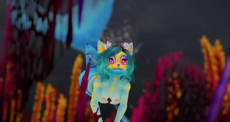 Little blue furry catfish by CrujishNicov