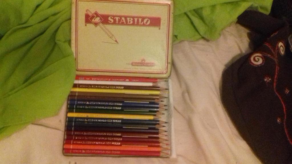 de potloden zelf, bijna nooit gebruikt!