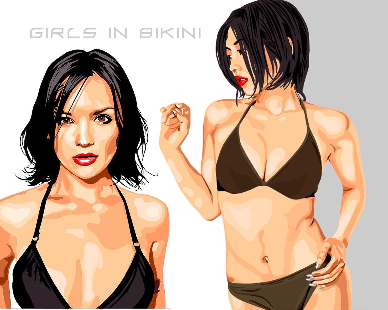Girls in bikini by madstoner