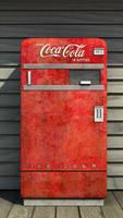 Coca cola vintage machine Render