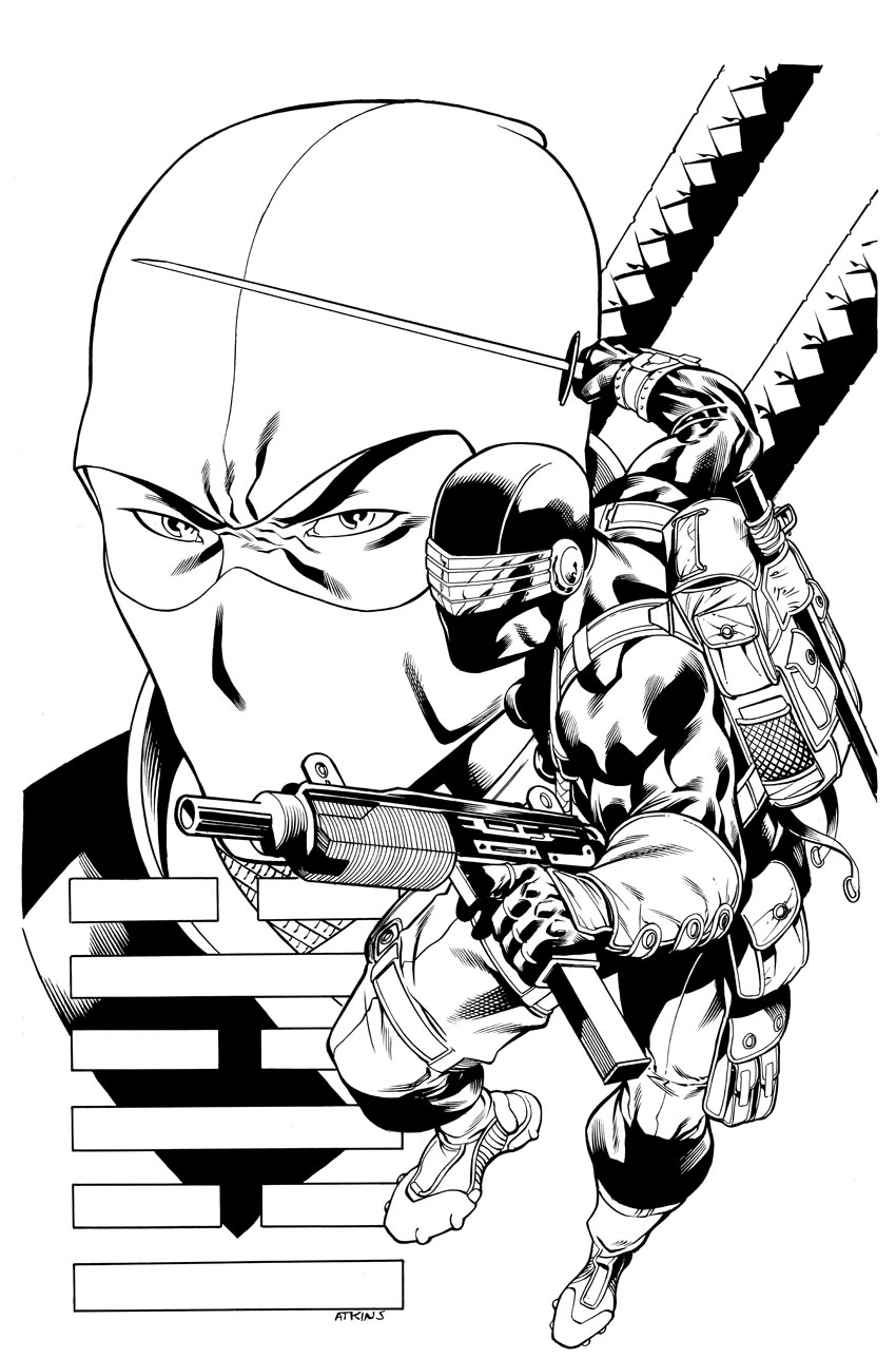 GI JOE print Snake Eyes by RobertAtkins