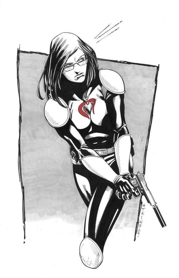 Baroness VA Comic Con sketch by RobertAtkins