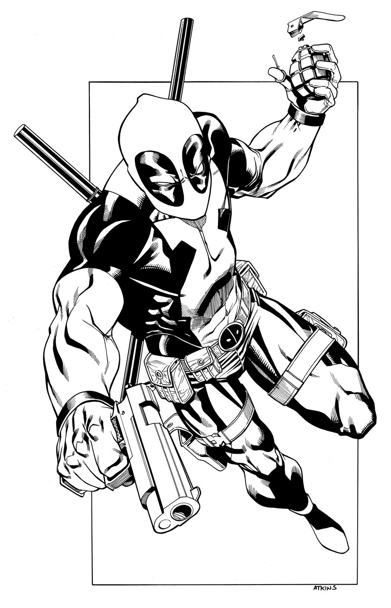 Deadpool Inks by RobertAtkins