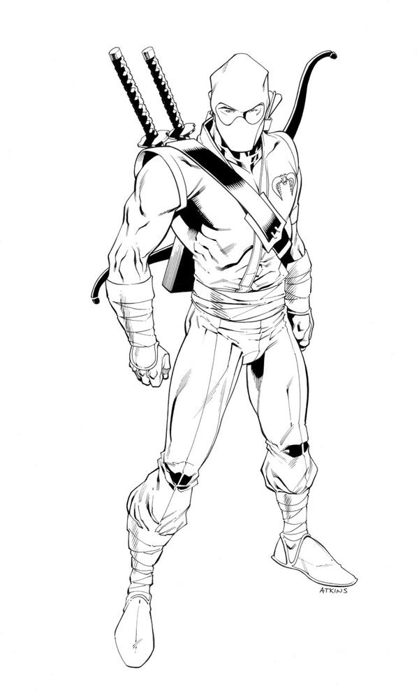 Storm Shadow inked by RobertAtkins