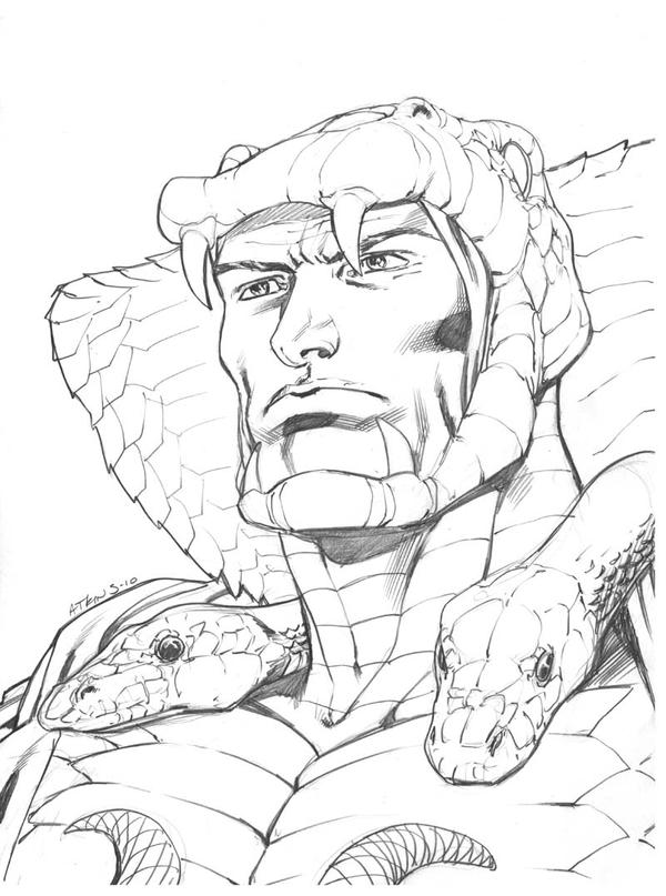 Serpentor sketch by RobertAtkins