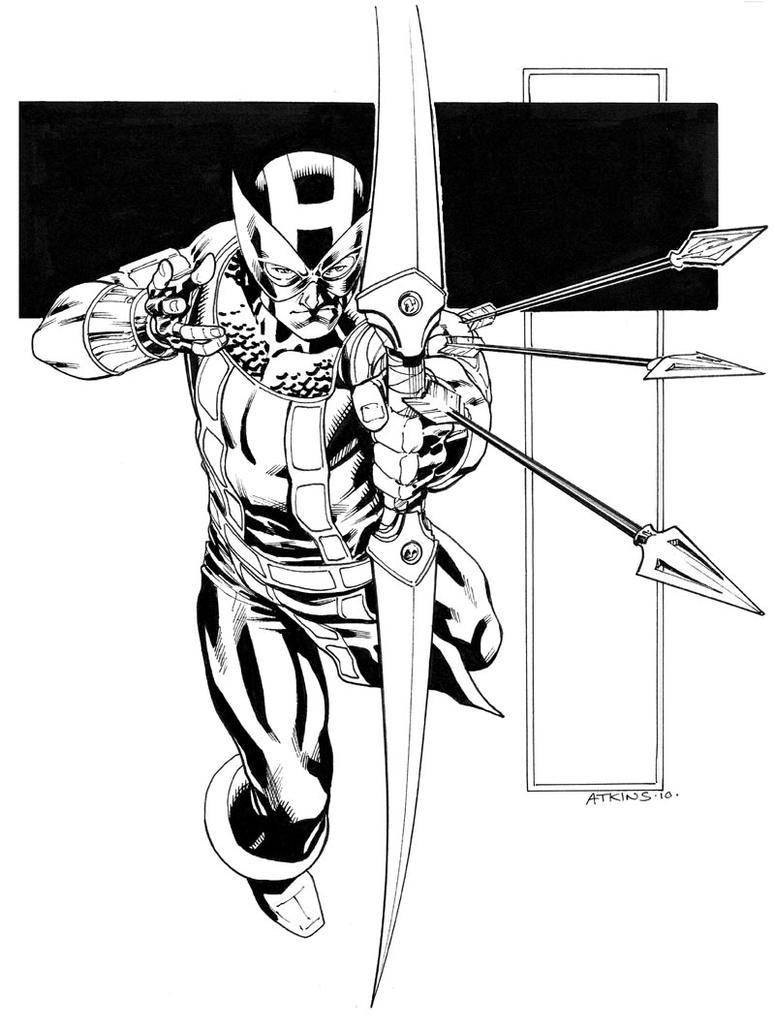 Hawkeye Sketch C2E2 by RobertAtkins