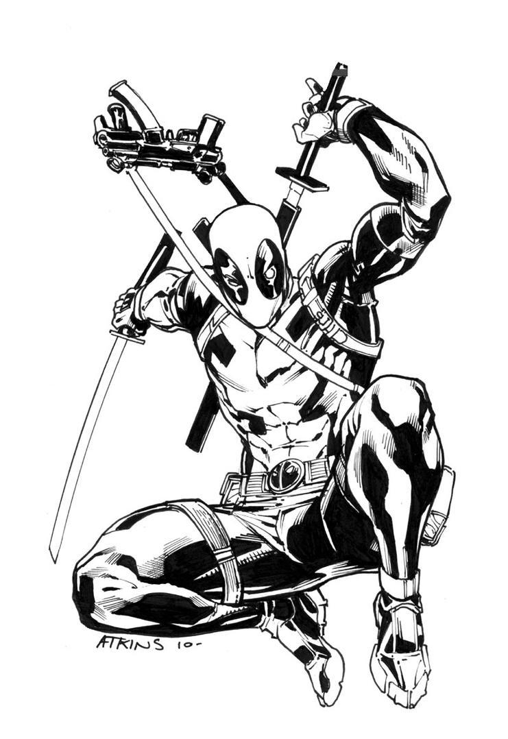 Marvel Deadpool Ausmalbilder Gratis: Deadpool Sketch By RobertAtkins On DeviantArt