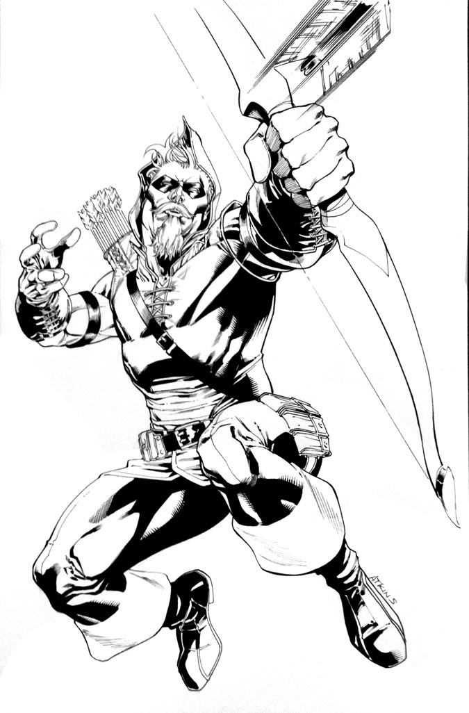 green arrow coloring pages - green arrow super show 2011 by robertatkins on deviantart