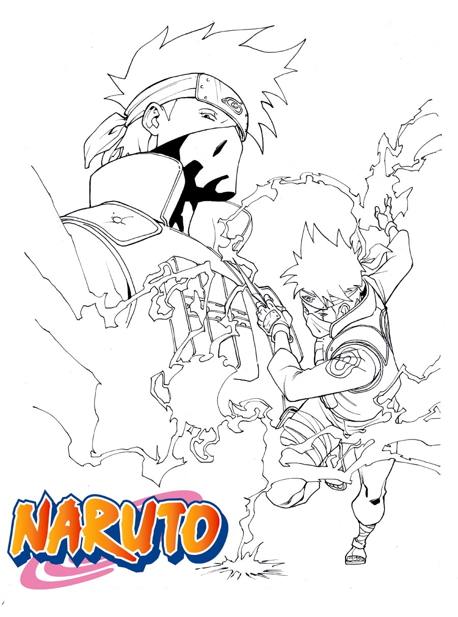 Sasuke and sakura coloring pages coloring pages - Manga Naruto 655 Kakashi And Obito Lineart By Sama15 On Deviantart