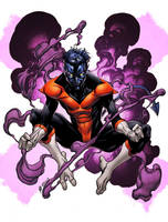 X-Men Month Nightcrawler Color by RobertAtkins
