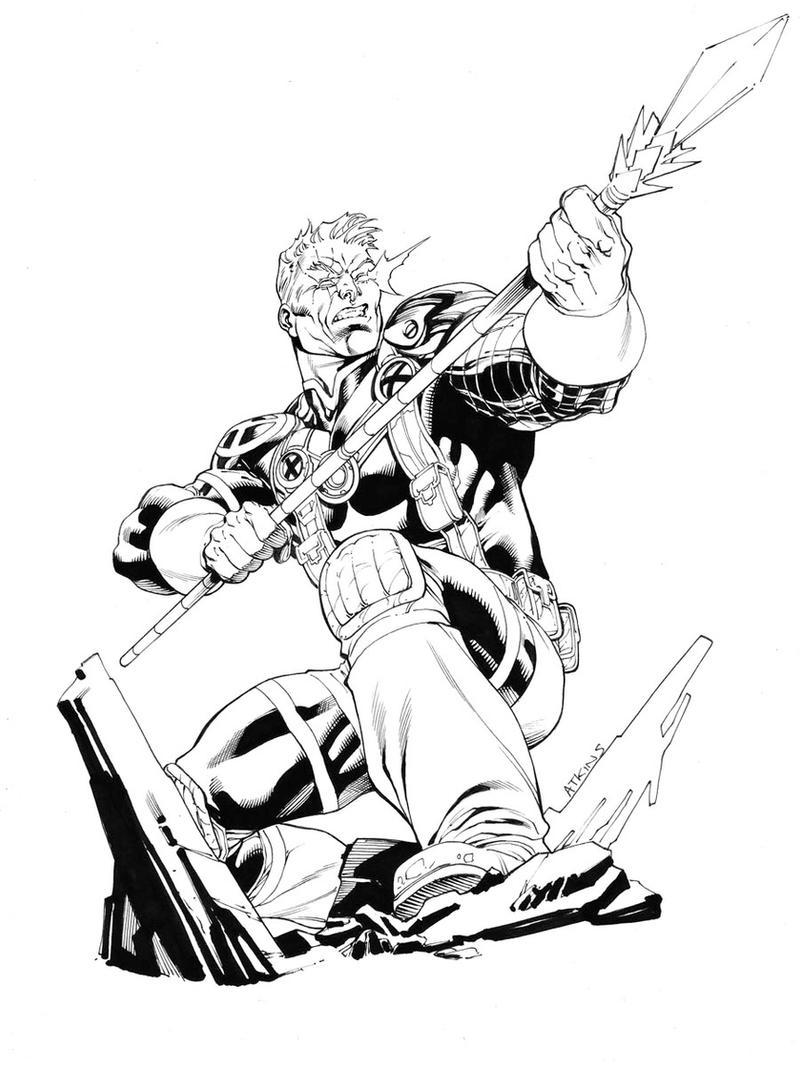 X-Men Month Cable SOTD by RobertAtkins on DeviantArt X Men Deadpool Drawings