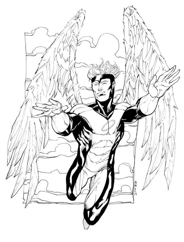 Ausmalbilder Marvel Helden Angel: X-Men Angel SOTD By RobertAtkins On DeviantArt